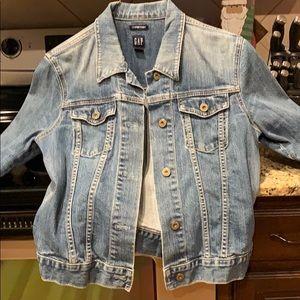 Vintage distressed gap Jean jacket